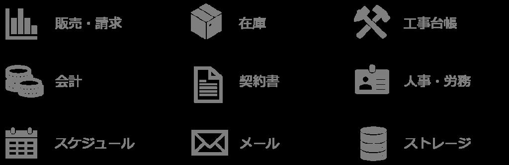 様々な業務アプリ